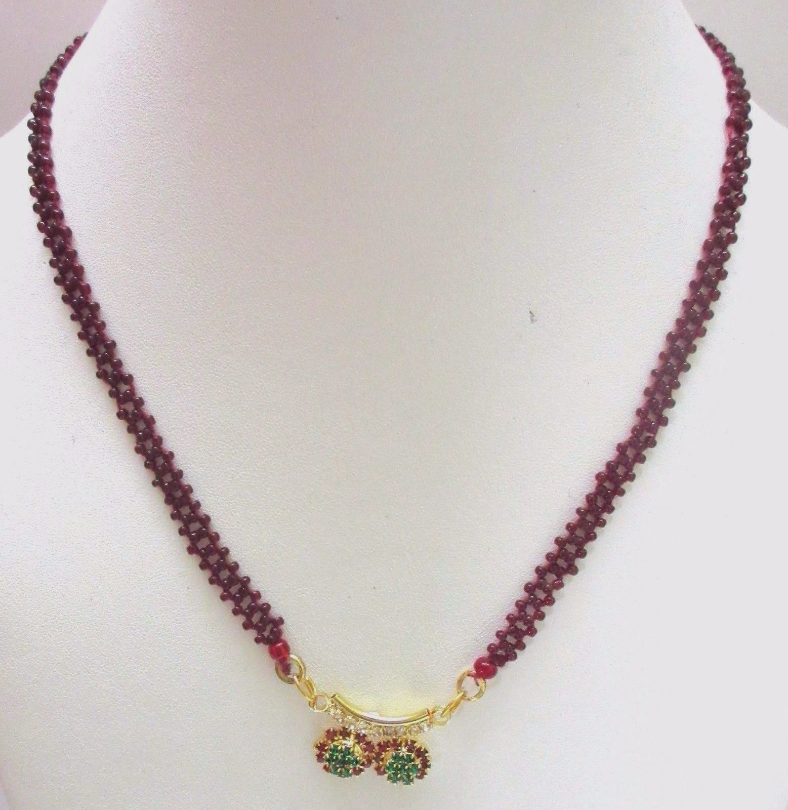 Indian Traditional Bollywood Bridal Red Gold Plated CZ Fashion Jewelry Necklace image 3