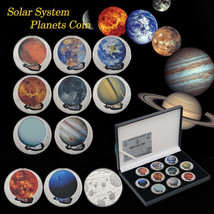 WR 10pcs Planets Silver Coins Exploring Solar System Collection Gifts Fo... - $24.93