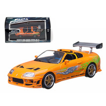Brians 1995 Toyota Supra MK 4 The Fast and The Furious Movie (2001) 1/43... - $28.71