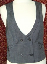 GAP gray double breasted wool blend vest M (T42-03G8G) - $12.85
