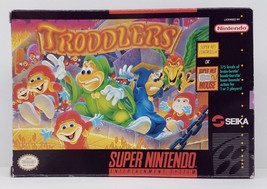 Troddlers Super Nintendo SNES Box Only Original 1993 Box - $8.99