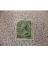 Used Green Vintage USA 1887 2 Cent Stamp - $10.94
