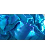 6 yards paper silk fabric cloth sari for dress carft decor - $32.77