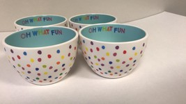 New Set of 4 ~ Cereal Bowl ~ Candy Dish ~ Christmas Gift ~~Oh What Fun D... - €7,52 EUR