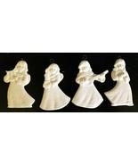 Set of Four Vintage GOEBEL Ornaments Child ANGELS Porcelain Bisque Chris... - $12.95
