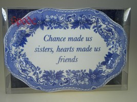Spode Blue Room Mini Platter (Chance Made us Sisters Hearts Friends) NEW... - $9.85