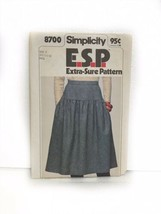 Simplicity 8700 ESP Extra Sure Pattern Misses Skirt Vintage Sewing  - $9.89