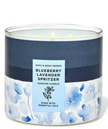 Bath & Body Works Blueberry Lavender Spritzer 3-Wick 14.5 Ounces Scented... - $23.95
