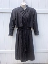 True Vintage Bill Blass Trench Coat Size 4 Removable Wool Lining Shoulde... - $64.35