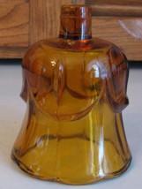 Vintage HOMCO Votive Cup Candle Holder AMBER Tulip - $3.75