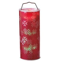 "Midwest 12"" B/O Transparent Red Snowflake LED Hanging Christmas Lantern - $26.72"