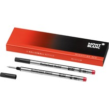 Montblanc Rollerball 2 x Pen Refill Medium Nightfire Red 105160 - $17.99
