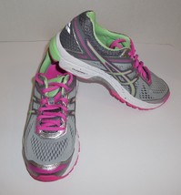 Womens 6 ASICS GT-1000 4 Sneakers Running Shoes T5A7N Silver Pistachio Pink New - $50.45