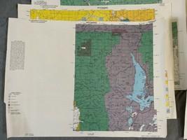 "Vintage 1980 Lot (8) Wyoming Quad Index Map US Dept of Interior 22x16.5"" 2 Sided image 2"