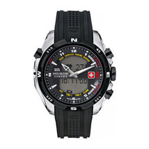 Mens Quartz Watch Swiss Military - HIGHLANDER_06-4174_04_0 Black Water Resistant - $151.01