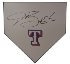 Texas Rangers Jeff Banister Signed Autographed Baseball Home Plate Base ... - $128.69