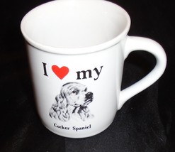 Vintage Cocker Spaniel Mug I Love My Cocker Spaniel Dog Pet Lover Mug - $9.00