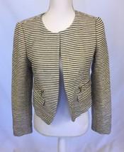 Ann Taylor 4 Loft Black & White Cropped Jacket Lined - $19.99