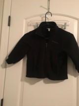 Columbia SportsWear Company Kids Fleece Jacket Coat Sz 4/5 Black OuterWear - $86.40