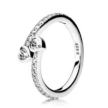 925 Sterling Silver Forever Hearts with Clear Cz Ring For Women QJCB1114 - $22.99