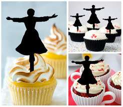 Ca230 Wedding,Birthday cupcake toppers,silhouette sound of music Package... - $10.00
