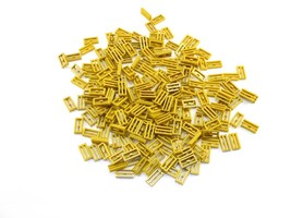 LEGO Pearl Gold Tile Modified 1x2 Grill Bottom Groove Lot of 100 Parts P... - $2.96