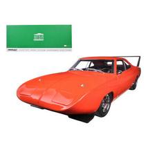 1969 Dodge Charger Daytona Custom Red/Orange with Black Rear Wing 1/18 D... - $85.27