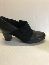 Clarks Bendables Womens Black Leather Side Zip Ankle Booties Shoes Size 7.5 - $34.75