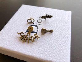 """SALE** AUTH Christian Dior 2019 """"J'ADIOR"""" EARRINGS Aged Gold Bee Wasp image 5"""