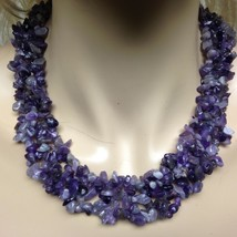 Elegant, Amethyst Chips 18in Beaded Necklace (B) - $47.45