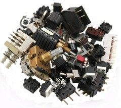 "50 Assorted switches (rotary, toggle, slide, ""micro"", breaker, etc) - $13.16"