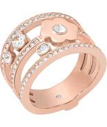 MICHAEL KORS Ladies Brilliance Crystal Rose Gold Tone Ring - MKJ7173791 - £84.30 GBP