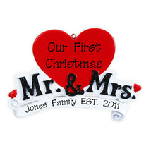 Mr and Mrs Love Personalized Christmas Tree Ornament - $14.95
