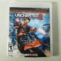 Uncharted 2 PS3 Video Game of the Year Edition Sony PlayStation 3  - $8.99