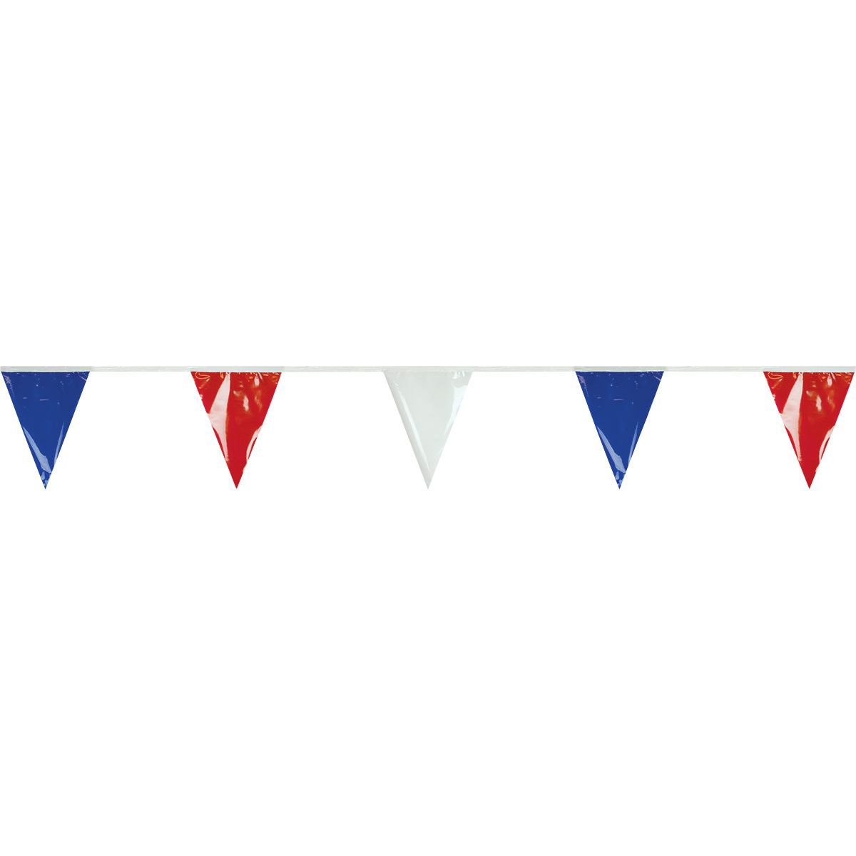 100' Pennant Streamer (Red White Blue)