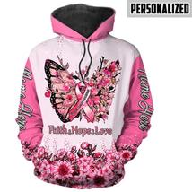 Breast Cancer Awareness Gift Pink Ribbon Faith Hope Love Breast Cancer A... - $47.99