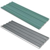 "vidaXL 12x Roof Panel Galvanized Steel 50.8"" Garage Profile Sheet Green/... - $142.99"