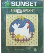 Gingham Hen Needlepoint Kit Chicks Chicken Sunset 12x12 Barbara Randy Je... - $19.99