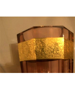 DAZZLING MAGNIFICENT MOSER CRYSTAL ROSE COLOR FACETTED VASE GOLD AMAZONI... - $1,500.00