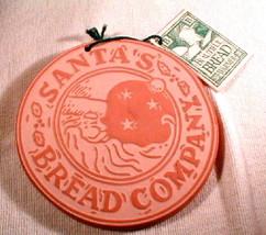 terra cotta Bread warmer Trivet  round  Hill Designs Santa 1995 - $25.00