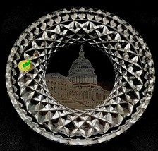 Waterford Ireland Crystal Cut Glass US Capitol Washington DC Round Plate... - $65.06