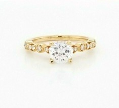 Hearts on Fire CZ Engagement Ring w/Dia's 18K Rose Gold  $2,200 Retail, ... - $1,356.30