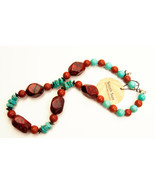 South Sun Hardstone Beaded Necklace with Sterling Silver Clasp - $44.57