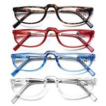 AQWANO 4 Pack Computer Reading Glasses Blue Light Blocking Lightweight F... - $28.38