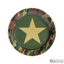 Camouflage Camo Paper Party Paper Dinner Plates - $3.61