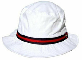 Dorfman Pacific White Cotton Blend Bucket Hat L/EX- Free PB US Open BM - $15.35