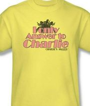 """Charlie's Angels t-shirt """"I only answer to Charlie"""" retro TV graphic tee CA106 image 3"""