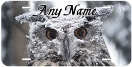 Owl Bird Personalized Any Name Novelty Aluminum Car License Plate - $14.80
