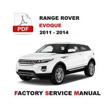 Range Rover Evoque 2011 - 2014 Engine Brake Suspension Service Repair Manual - $14.95