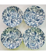 """Churchill Made in England Blue Peony 8"""" Salad/Soup Bowl Set of 4 EUC - $67.55"""